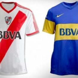 Camisetas de River / Boca con logo