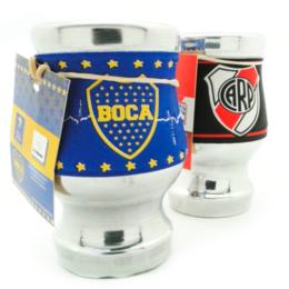 Mate aluminio Boca/River